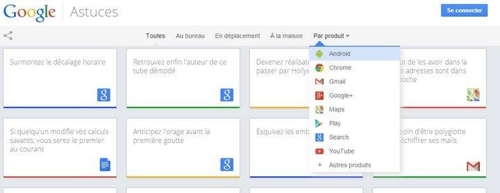 Google Astuces par produit