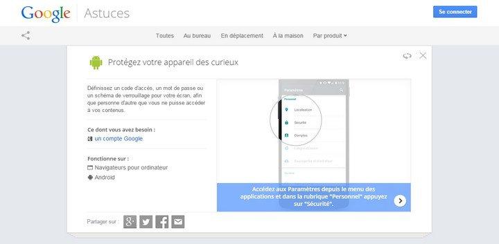 Google Astuces - tutoriels