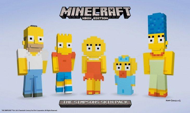 Les Simpson dans Minecraft ? Possible sur Xbox One et 360 en Février !