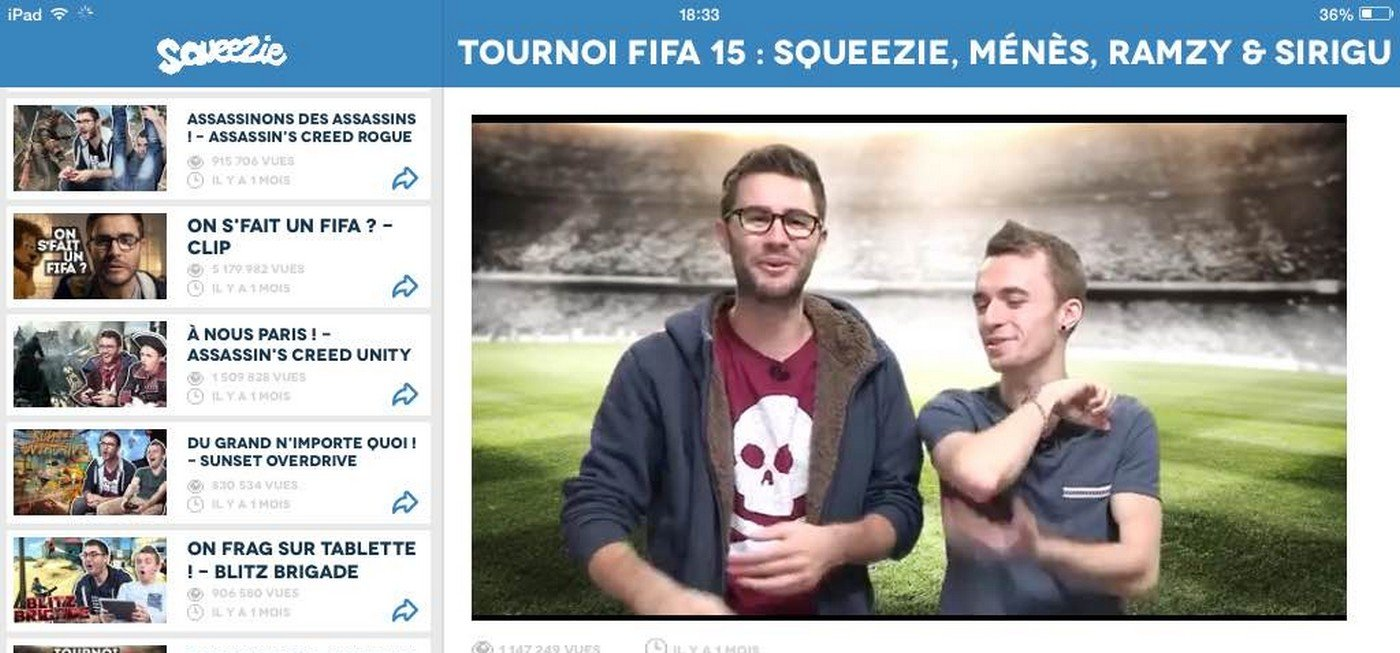 Squeezie sort son application Android et iPhone / iPad