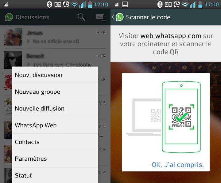 WhatsApp pour PC à partir de ton smart phone