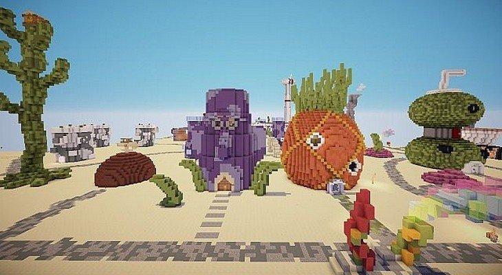 Minecraft: Bikini Bottom la ville de Bob l'éponge dans un mod !