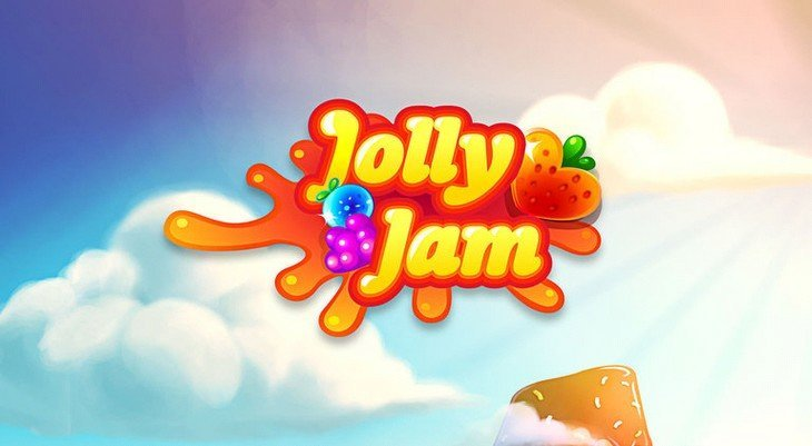 Jolly Jam un jeu de puzzle à la Candy Crush où tu collectes des fruits