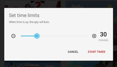 Set Time Limits - YouTube Kids