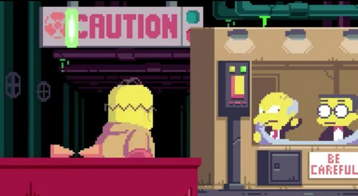 Simpsons Pixel Art Homer dans la centrale