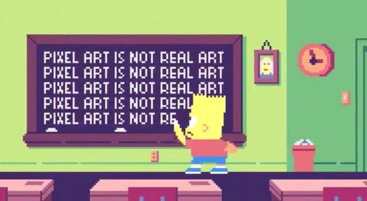 Découvre les Simpsons en Pixel Art dans cet hommage aux jeux vidéo
