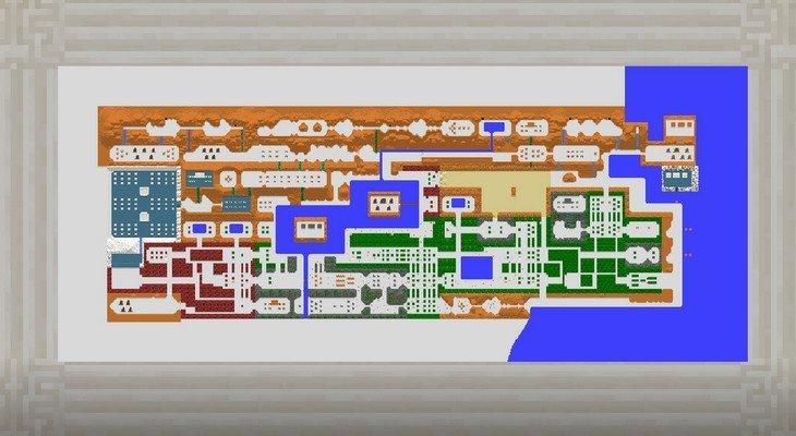 Découvre la carte de The Legend of Zelda dans Minecraft !