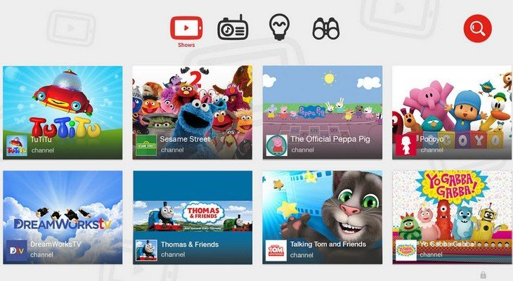 YouTube Kids disponible : Minecraft, National Geographic Kids et Sesame Street au programme