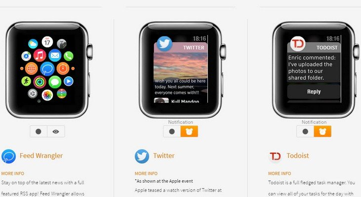 Apple Watch : comment sont les applications dans la montre connectée ?