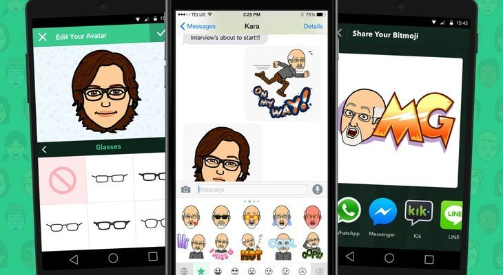 Snapchat s'offre Bitstrips et Bitmoji : bientôt des émojis personnalisés dans tes snaps ?