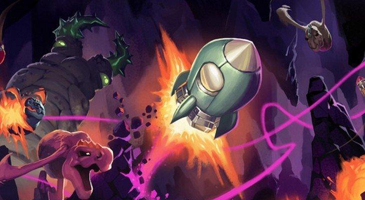 Flop Rocket : le jeu où tu pilotes une fusée rigolote dans une caverne !