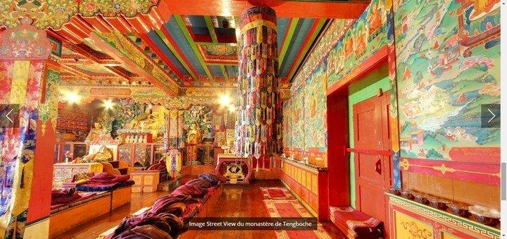Google Street View - monastère de Tengboche