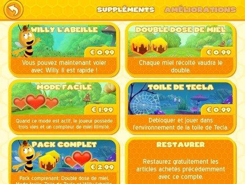 Maya abeille défi de vol - achats in-app