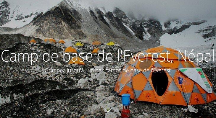 Pars en expédition vers l'Everest avec Google Street View !