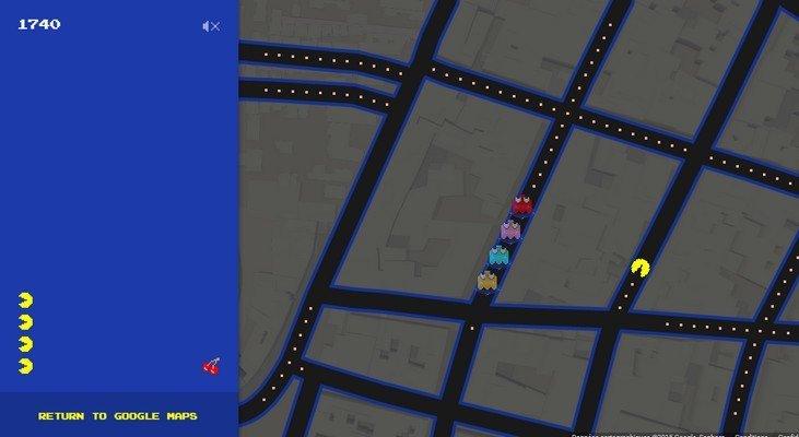 Jouer à Pac-Man sur Google Maps, c'est possible !