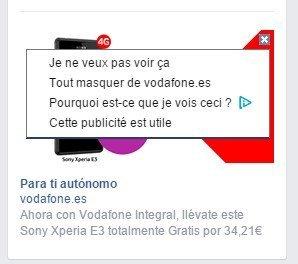 Facebook non à la pub