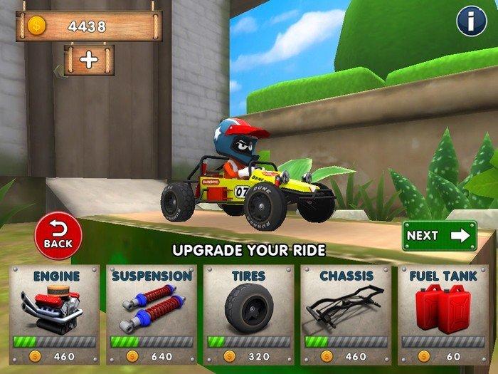 Mini Racing Adventures upgrade  Gameplay