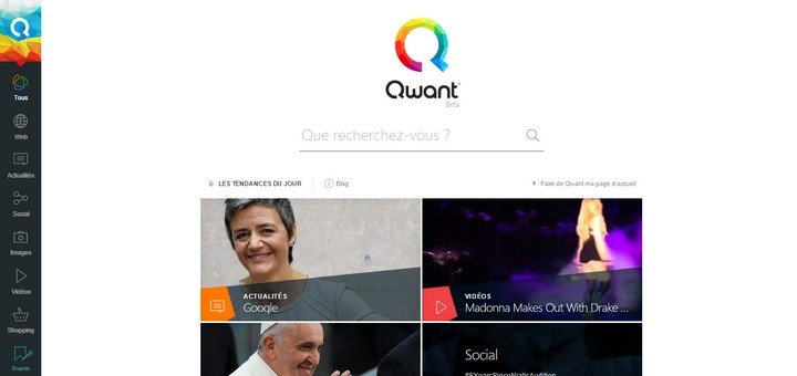 Qwant page accueil