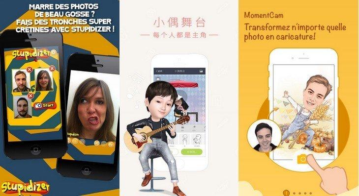 MyIdol, MomentCam, Stupidizer : 3 applis pour des selfies complètement dingues !