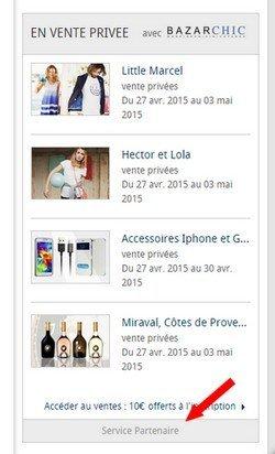 publicité bazarchic sur lefigaro.fr