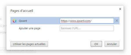 choix du navigateur page accueil Chrome