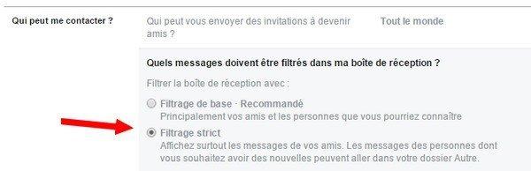 filtrer les messages dans Facebookfiltrer les messages dans Facebook