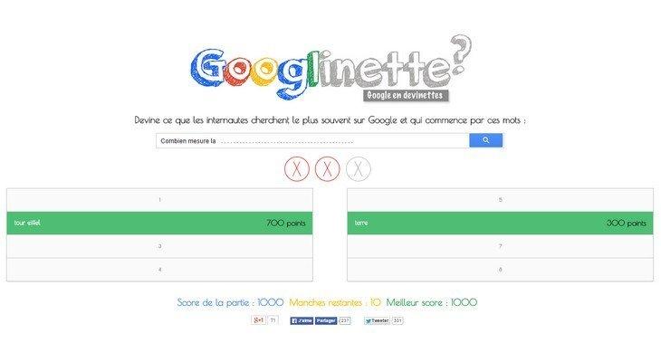 Googlinette : devine ce que les internautes recherchent sur Google