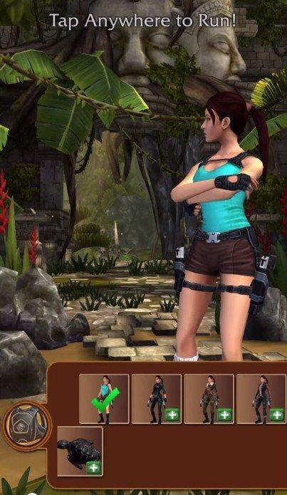 Lara Croft  Relic Run personnalisation