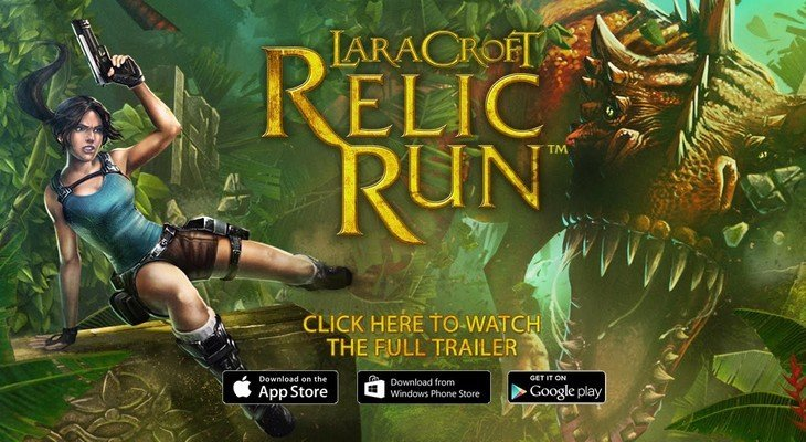 Lara Croft: Relic Run,  un bon jeu mobile à la Temple Run !