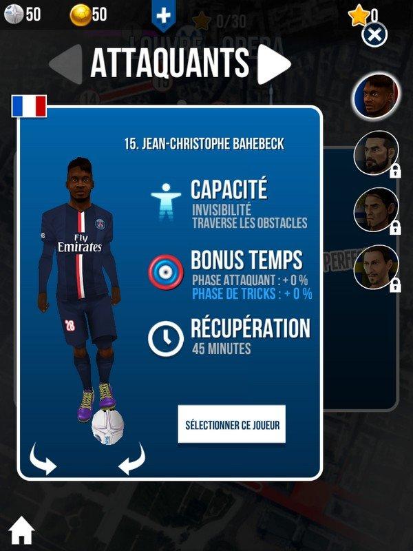 Rushin Paris joueur