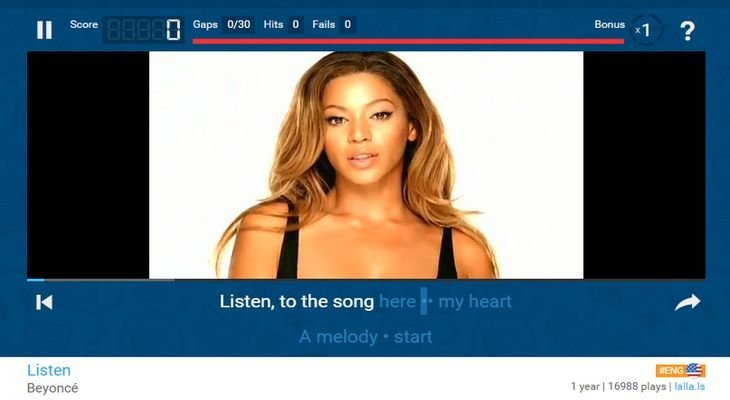 Lyricstraining : apprendre l'anglais avec Rihanna ou Justin Bieber !