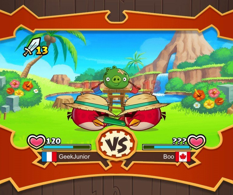 Angry Birds Fight gameplay combat