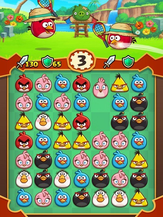 Angry Birds Fight gameplay
