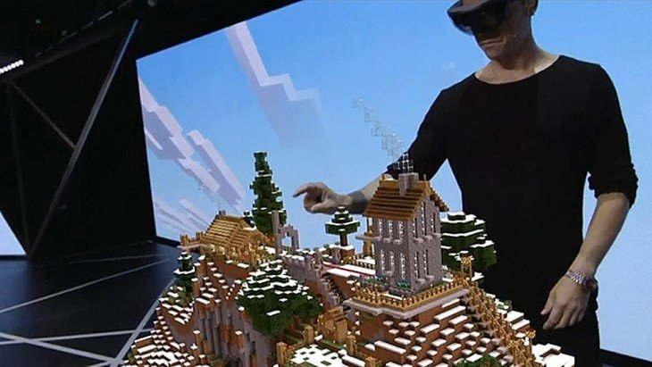 E3 : Minecraft avec Hololens de Microsoft, l'incroyable démo