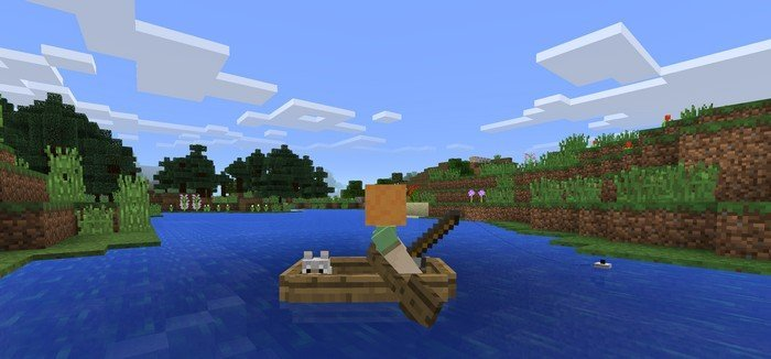 Minecraft Pocket Edition bateau
