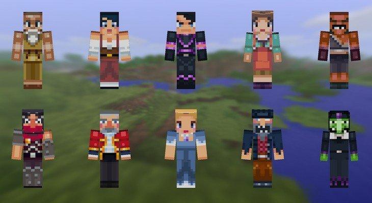 Mise à jour de Minecraft Pocket Edition avec de nouveaux skins