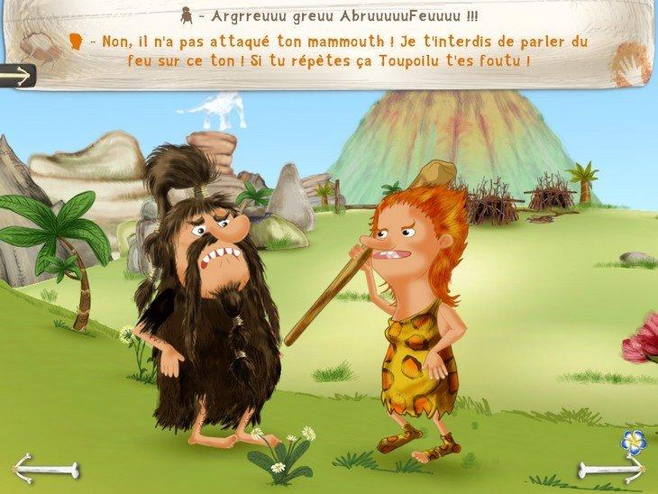 Mystère préhistorique  dialogue