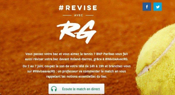 Réviser son bac et suivre Roland-Garros en même temps c'est possible !