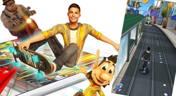 Cristiano Ronaldo et Hugo Délire dans un jeu mobile de skate !
