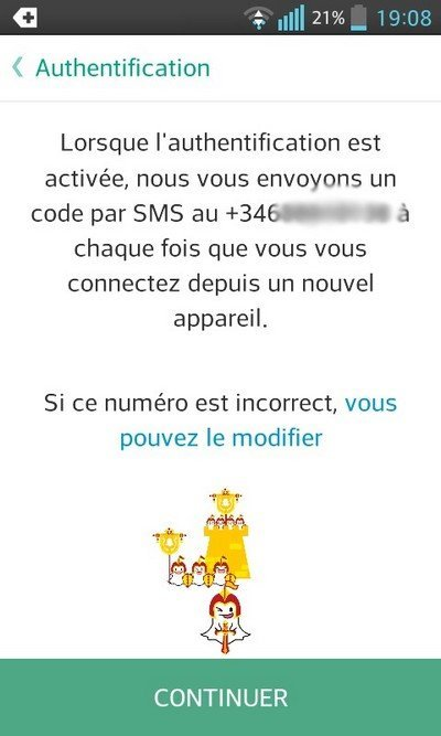 Snapchat Authentification