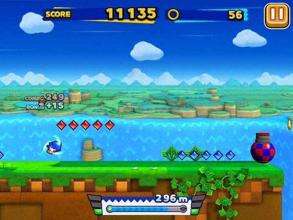 Sonic Runners gameplay