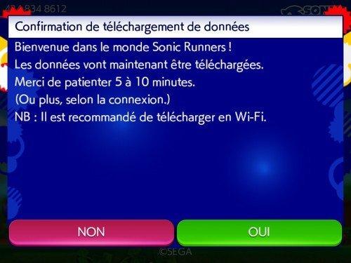 Sonic Runners téléchargement