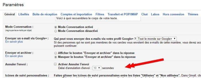 annuler envoi astuce gmail