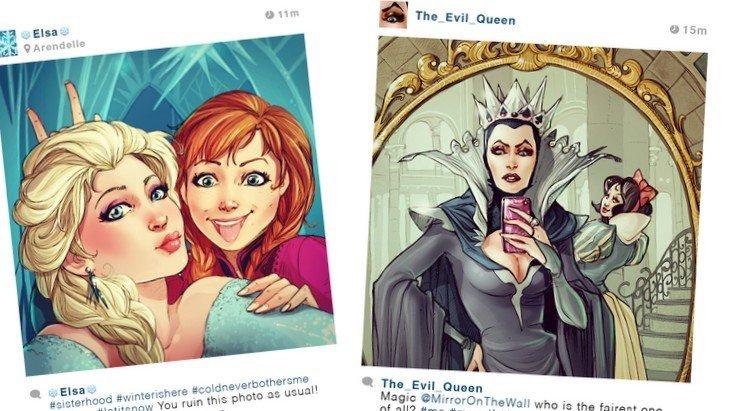 «Selfie Fables» : les princesses Disney sur Instagram, cela donnerait quoi ?