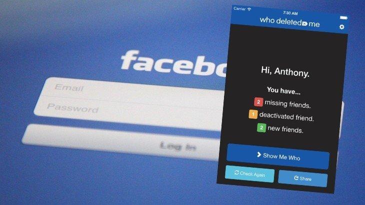 Qui m'a supprimé de sa liste d'amis Facebook ?  Who Deleted Me te le dit (ou plutôt te le disait)
