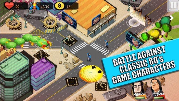 PIXELS Defense : découvre le jeu mobile inspiré du film Pixels