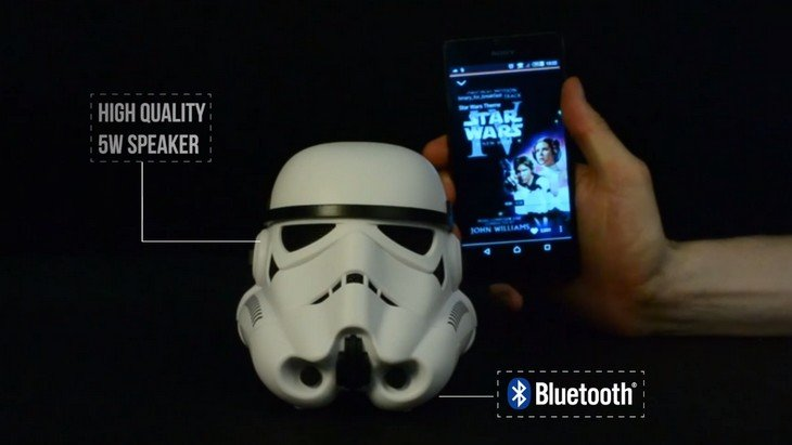 Cadeau Geek : l'enceinte bluetooth Stormtrooper de Star Wars