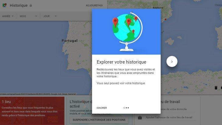 Google te suit partout et le montre sur Google Maps. Mais si tu n'aimes pas ça, il y a une solution