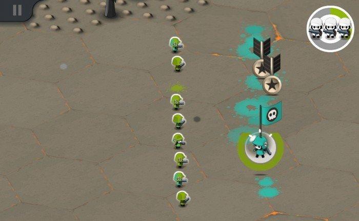Tactile Wars gameplay