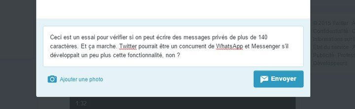 Twitter fin limitation exemple